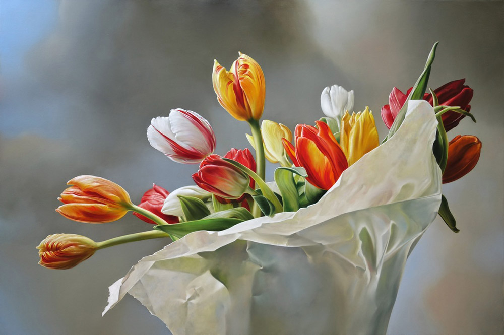 17-Dutch-Tulips-Tjalf-Sparnaay-The-Beauty-of-the-Everyday-Paintings-of-Food-Art-www-designstack-co