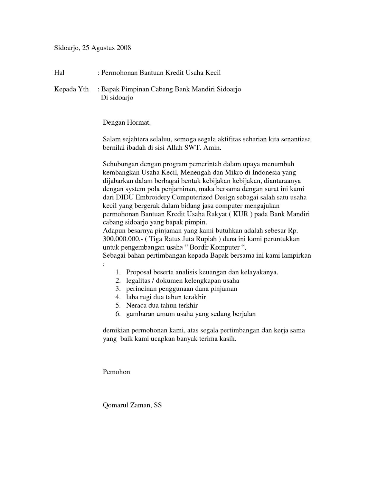 contoh surat pengajuan permohonan 2018 februari 2018