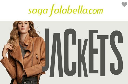 Catalogo de ropa Saga falabella chaquetas  2018