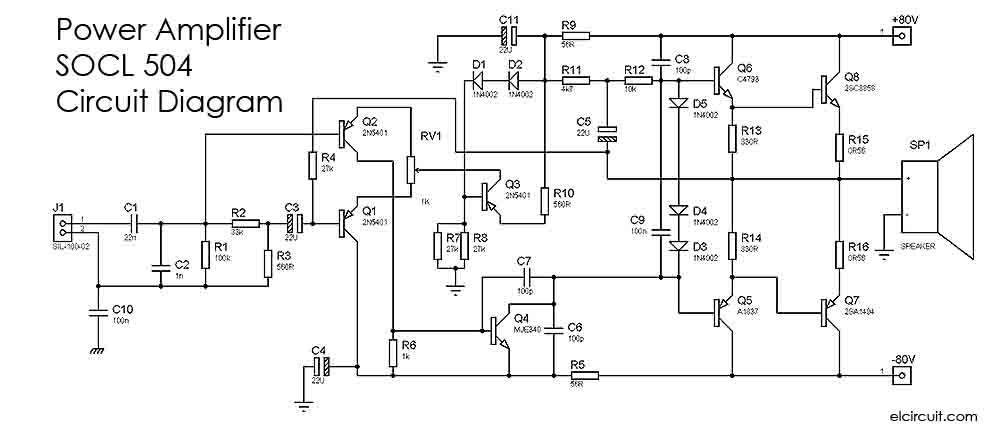 2000w power amplifier circuit diagram yamaha virago 125 wiring diagrams 15 6 kenmo lp de 500w socl 504 electronic rh elcircuit com