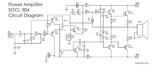 SOCL Power Amplifier Circuit Diagram