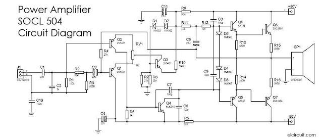 500w 2000w power amplifier socl 504 electronic circuit socl power amplifier circuit diagram ccuart Images