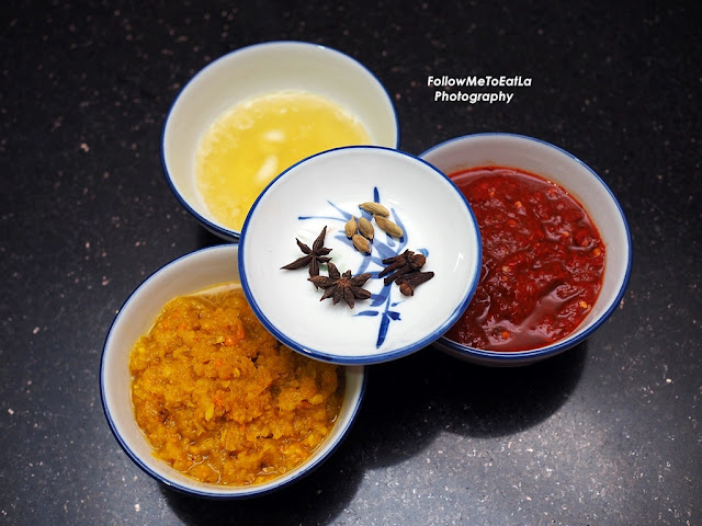 Oil, Spice Paste, Chili Paste, Star Anise, Cardamon & Cloves