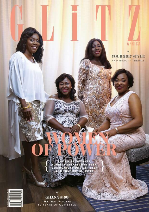 Frema Osei-Opare, Hon. Shirley Ayorkor Botchway, Hon. Ursula Owusu-Ekuful And Hon. Catherine Afeku Cover Glitz Magazine's 17th Issue