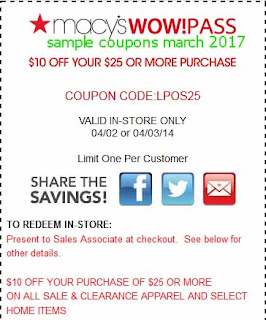 Macy's coupons for march 2017