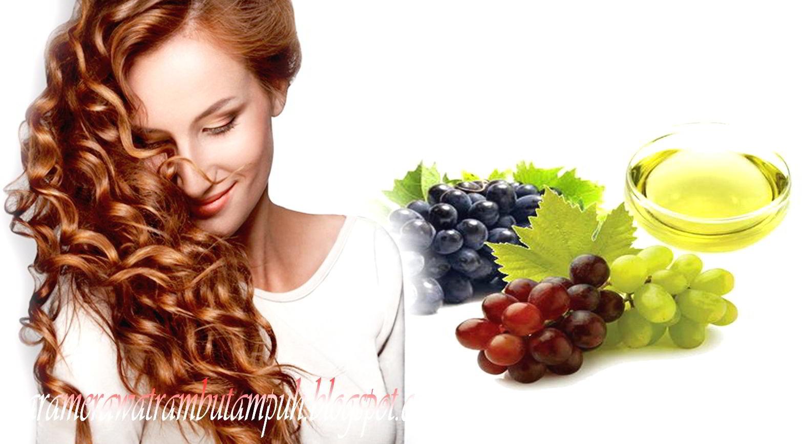 Khasiat Minyak Biji Anggur untuk Rambut