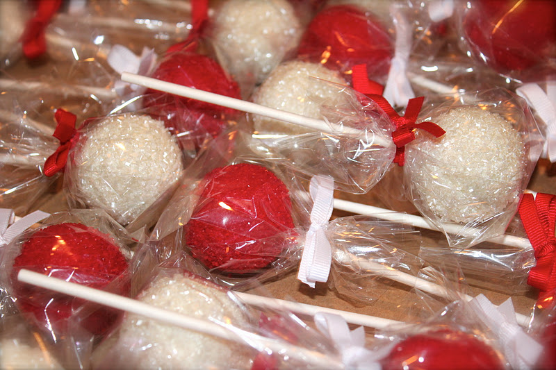 Here Comes The Bride Red White Wedding Cake Pop S