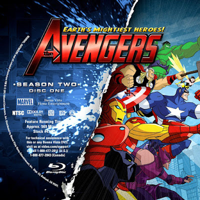 Label Bluray Earths Mightiest Heroes The Avengers Season Two