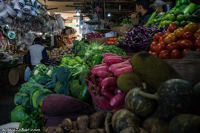 colorful food at market vegetables india Arunachal Pradesh Himalayas Siang River, WhereIsBaer.com Chris Baer