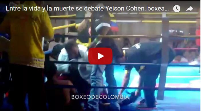 Yeison Cohen en coma tras un fuerte golpe en la cabeza