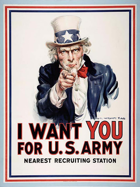 I Want You for U.S. Army, 1917, James Montgomery Flagg.