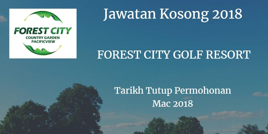 Jawatan Kosong FOREST CITY GOLF RESORT Mac 2018