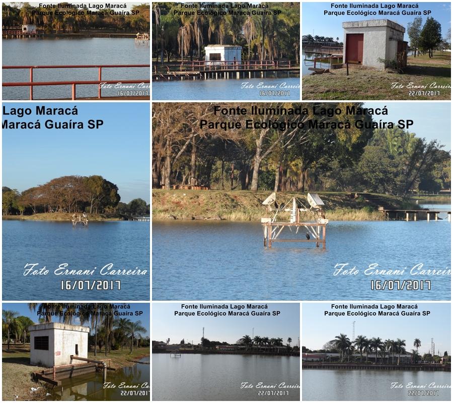 Fotos da Fonte Iluminada Lago Maracá Guaíra SP