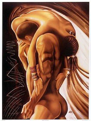 For romantic black art sex