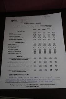 maranda hotel feedback form