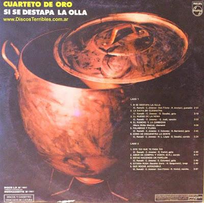 Cuarteto de Oro - Si se destapa la olla / Discos Terribles