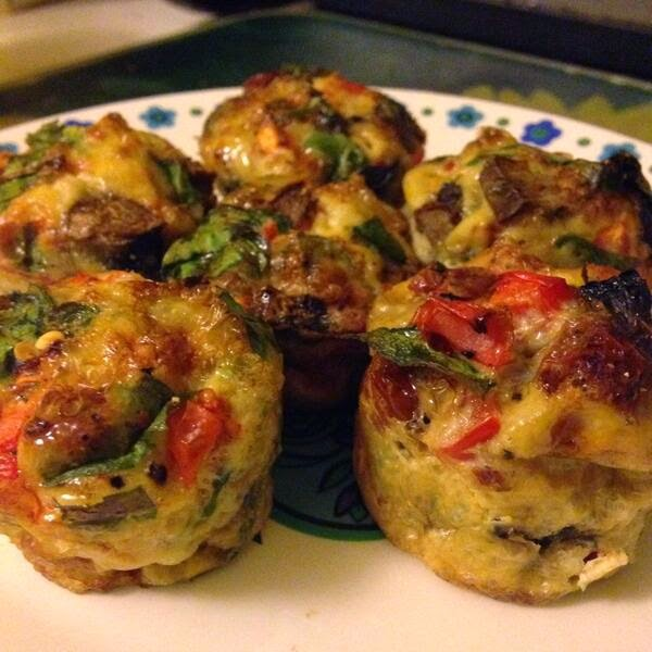 Egg & veg breakfast muffins low carb