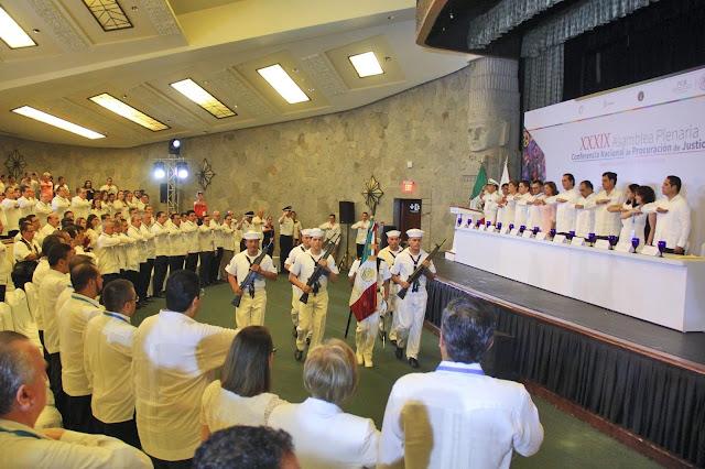 Asiste Evodio a la inauguración de la XXXIX Asamblea Plenaria de la Conferencia Nacional de Procuración de Justicia