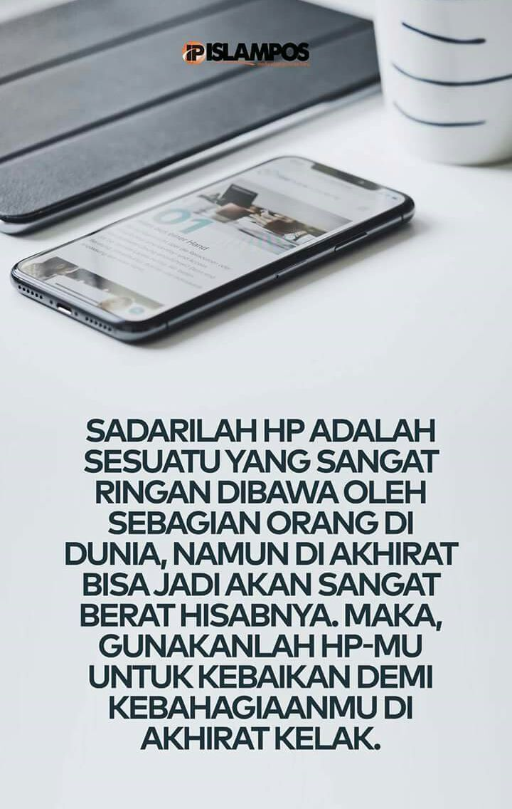 gambar kata bijak islami tentang hp