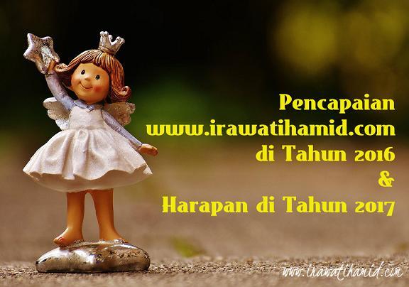 PENCAPAIAN BLOG WWW.IRAWATIHAMID.COM DI TAHUN 2016 & HARAPAN DI TAHUN 2017