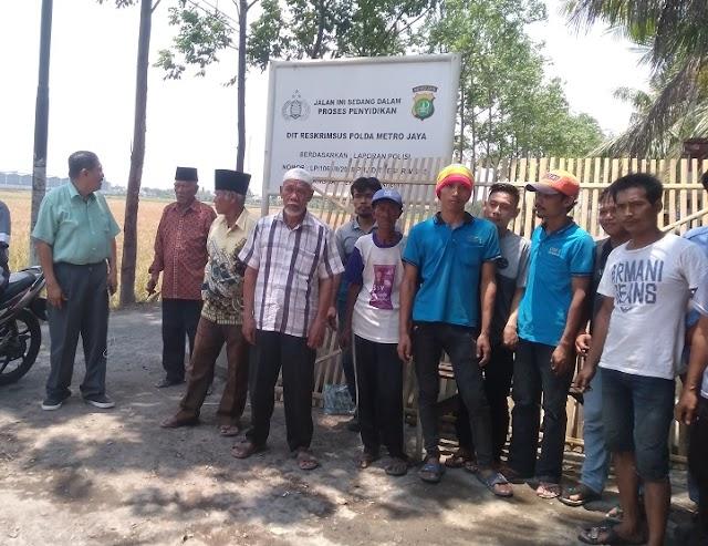 Jalan Ditutup, 400 KK Di Pakuhaji Tangerang Terisolasir