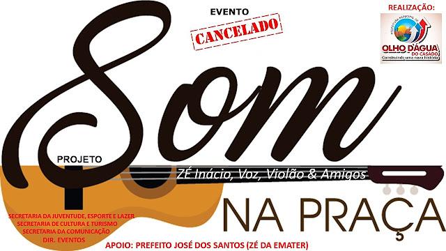 """Em Olho D'Agua do Casado, projeto """"Som na Praça"""" deste sábado é cancelado devido o falecimento da professora Rosiete Nicasio"""