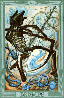 Crowley Thoth Tarot Trump Death XIII: Lord of Death and Resurrection