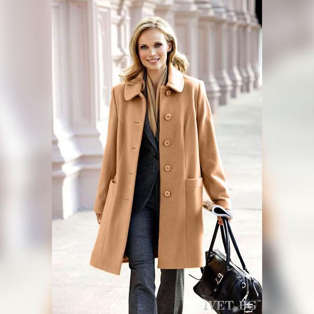 Γυναικείο μπεζ παλτό VAYA BEIGE
