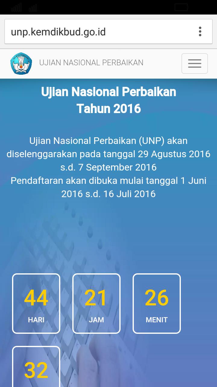 Juknis Ujian Nasional Perbaikan Jadwal Ujian Nasional Paket C Tahun 2016 Jadwal Pelaksanaan Unp