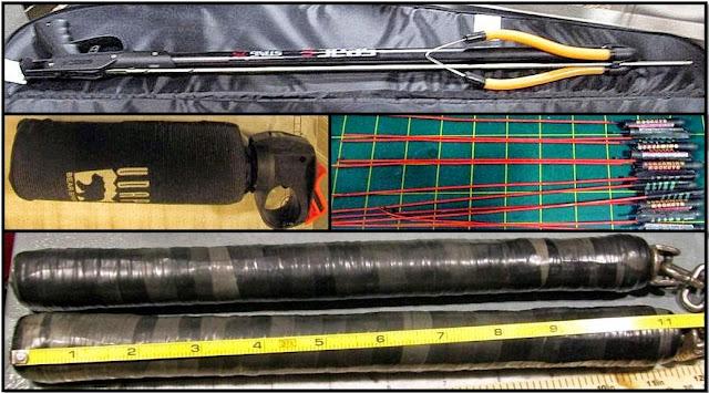 Spear Gun (SLC), Bear Mace (SLC), Bottle Rockets (LAS), Nunchucks (OAK)