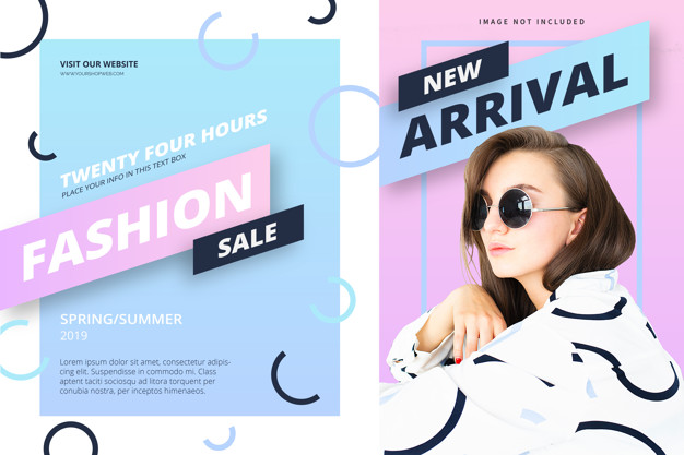 Fashion banner template Free Vector