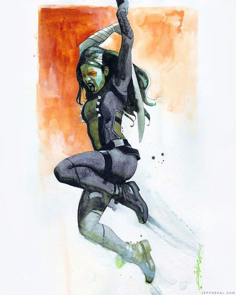 The Geeky Nerfherder: #ArtOfTheDay: 'Gamora' By Jeff Dekal