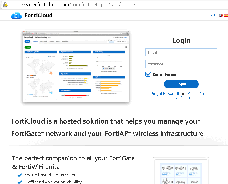 Cyber Security Memo: Free Forticloud Service for FortiGate and FortiWiFi