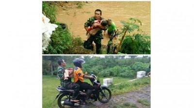 Aksi Heroik Prajurit TNI Coba Selamatkan Nyawa Balita yang Hanyut di Sungai Bikin Trenyuh Netizen - Commando