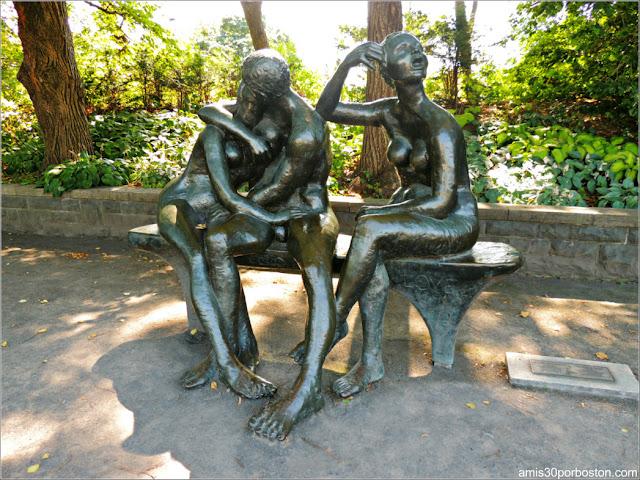 Lover's Bench en el Perennial Garden del Jardín Botánico de Montreal