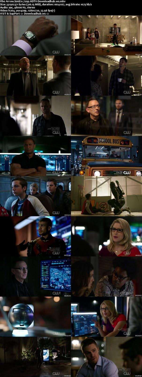 Arrow S06E11 315MB HDTV 720p x264