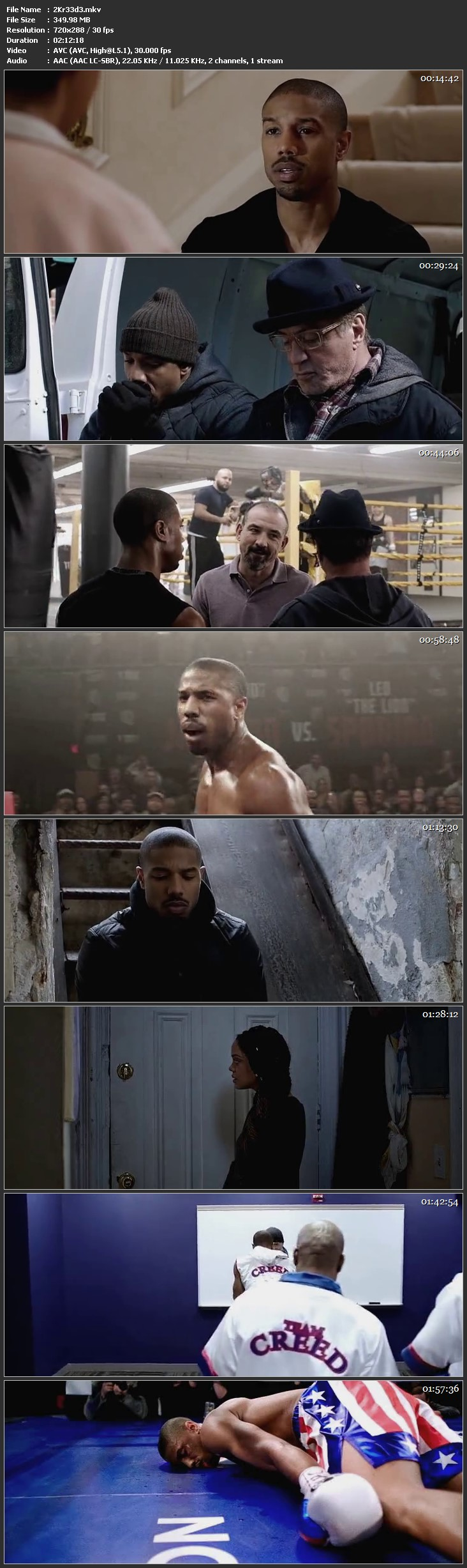 Screen Shot Of Creed 2015 Full Movie Download Free Watch Online 300MB