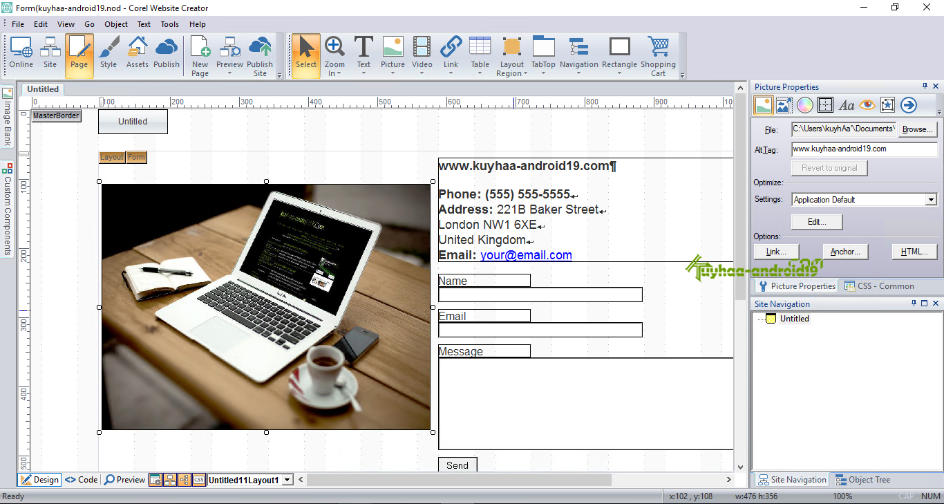corel website creator tutorial pdf