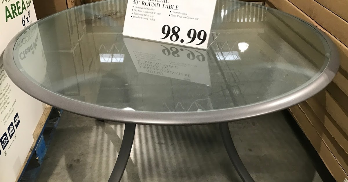 round commercial patio table