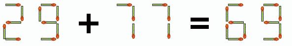 Matchstick Equation Puzzle