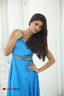 Telugu Actress Akshita (Pallavi Naidu) Latest Stills in Blue Long Dress at Inkenti Nuvve Cheppu Movie Promotions  0046.jpg