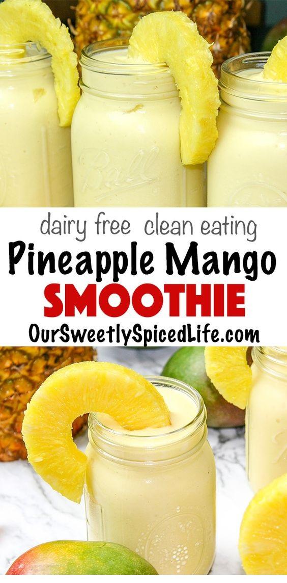 Mango Piña Colada Smoothie