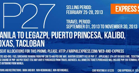 Travel Tropa: Air Philippines offers P27 promo sale in