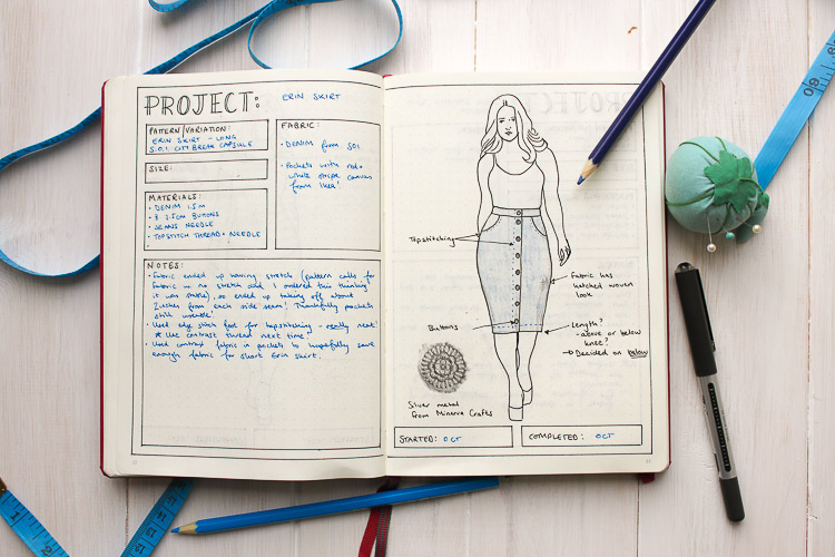 How I use my Bullet Journal for Sewing Planning (and more ...