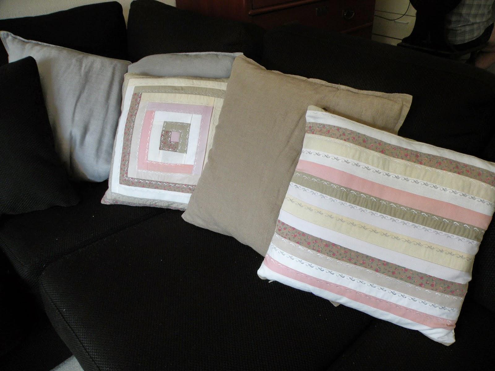 tyynynpäällinen tilkuista hirsimökkitekniikka