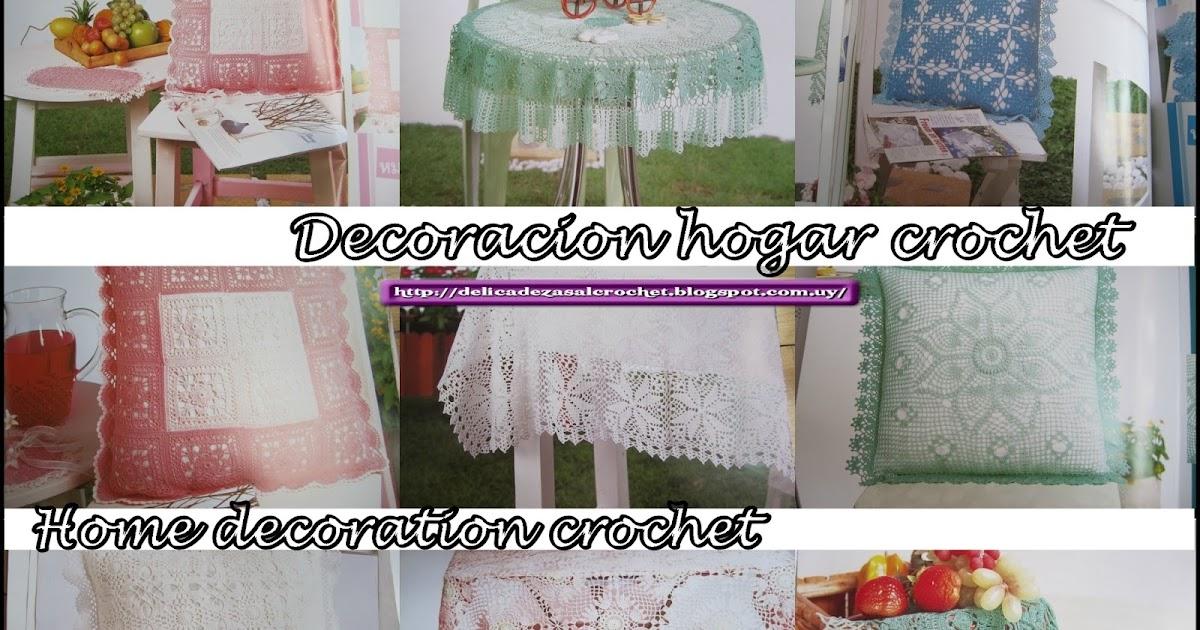Delicadezas en crochet gabriela decoracion para el hogar for Decoracion hogar uruguay