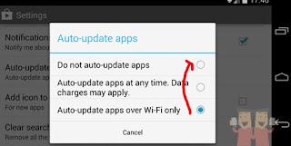 Cara Mematikan Update pembaharuan Aplikasi Android