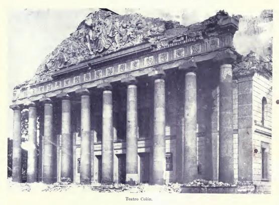 Teatro Colon, Terremoto en Guatemala 1917 1918