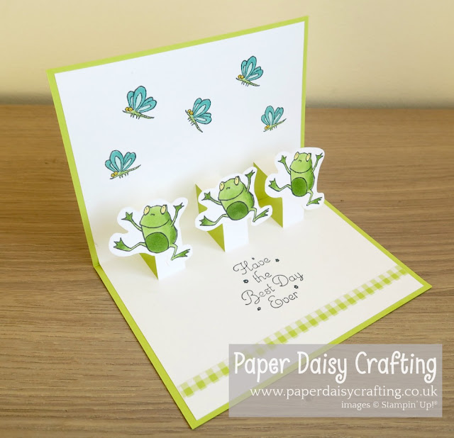 So Hoppy Together Pop Up card Stampin Up