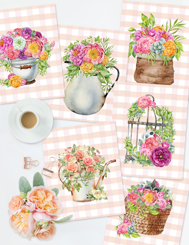 NEW! French Country Garden Printables